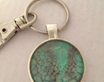 Painted Pendant Keychain