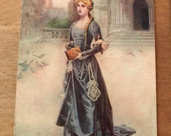 "Vintage Beautiful Women Postcards ""Marguerite"" ""Live, Laugh, and Love"""