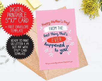 PRINTABLE Funny Mother's Day Card / For Mum, Mother's day card, printable mothers day, card for mum, printable card