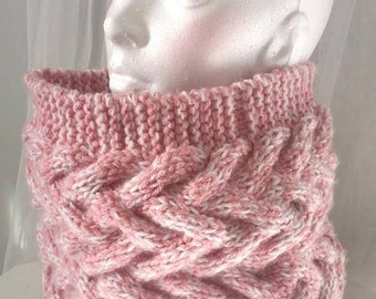 Cowl / Snood for women knit braided