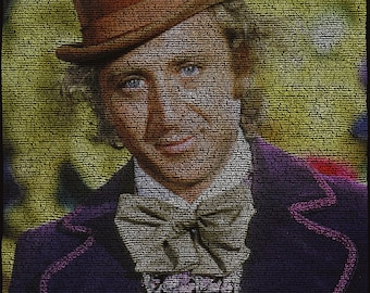 Gene Wilder — Willy Wonka and The Chocolate Factory Script Poster
