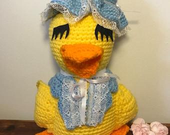 Yellow Crochet Duck, Stuffed Duck, Crochet Animal, Yellow Duckie, Plush Duck, Stuffed Duck, Toy Duck, Crochet Duck