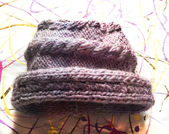 Pink and Purple Winter Wool Hat