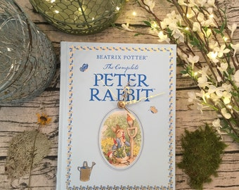 Book Clock, Peter Rabbit//Beatrix Potter//Blue Clock//Nusrery//Great Gift for Book Lovers//Baby Shower Gift