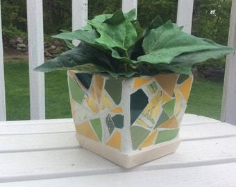 Earthy Mosaic Planter