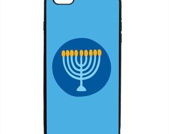 Hanukkah Menorah Phone Case Samsung Galaxy S5 S6 S7 S8 S9 Note Edge iPhone 4 4S 5 5S 5C 6 6S 7 7S 8 8S X SE Plus