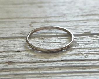 Individual BLACKENED Skinny Stacking Ring/Stitch Marker