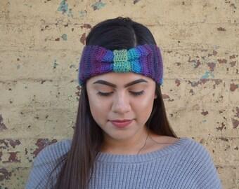 Multicolored Crochet Turban Headband