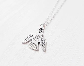 Eagle Necklace | Native American Thunderbird Layering Choker Necklace | Gypsy Jewelry | Southwestern | Boho Jewelry | Tbird Gift Idea