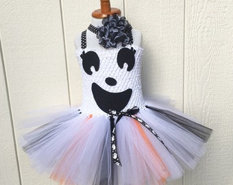 ghost tutu costume - costumes for girls - ghost tutu dress - baby girl costume - girls dress up - girls ghost costume - girls costume
