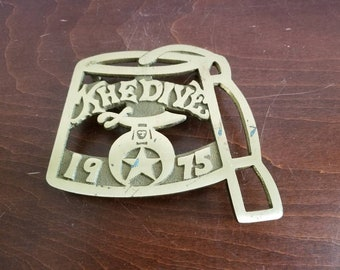 Khedive 1975 Brass Trivet