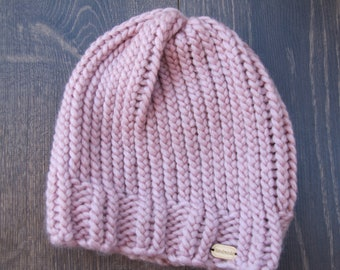 Wool Hat for adult - old Rose / Adult Hat - Old Pink Wool