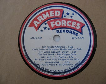 Rare! - Armed Forces Records - Pat Boone, Keely Smith  & Various Artist - Circa 1970's