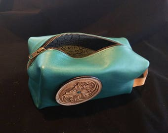Leather Makeup Travel Bag