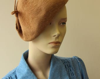 Elegant Brown fascinator