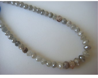 Diamond Beads, Rough Diamonds, Natural Diamonds, Raw Diamond Faceted Beads, 10 Beads, Approx 3mm Each