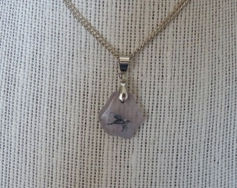 Sea glass bird pendant lavender