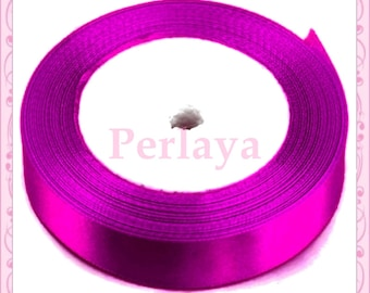 Ribbon satin fushia Purple 12mm REF2731 23 meters