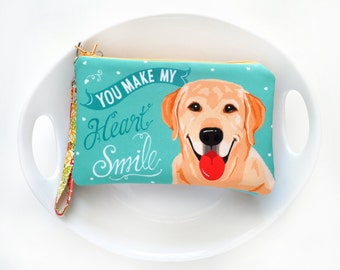 Labordor Art Padded Pouch- You Make My Heart Smile