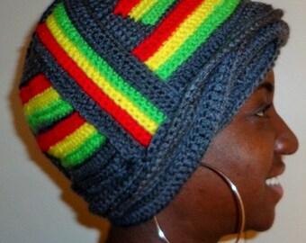 Rasta Girl Dancing, Crochet African Wrap