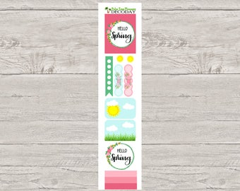 DECODAYS First Day of Spring Planner Stickers