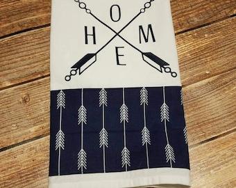 Home with Arrows Tea Towel