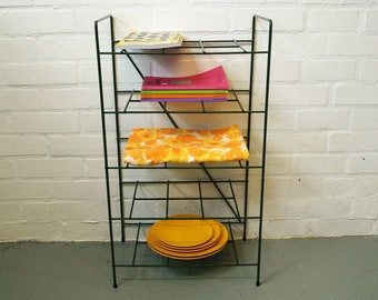 Vintage shelving rack in green