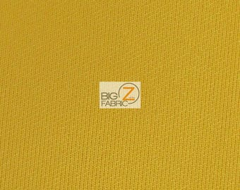 "Neoprene Scuba Techno Athletic Double Knit All-Purpose Fabric - MUSTARD - Sold By The Yard 58"" Width Lycra Active wear"