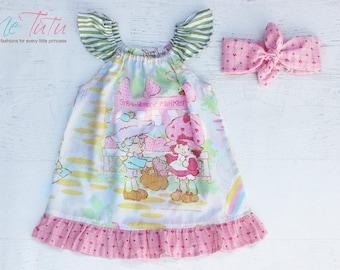 Vintage Retro Strawberry Shortcake Girl Baby Girl Dress Birthday
