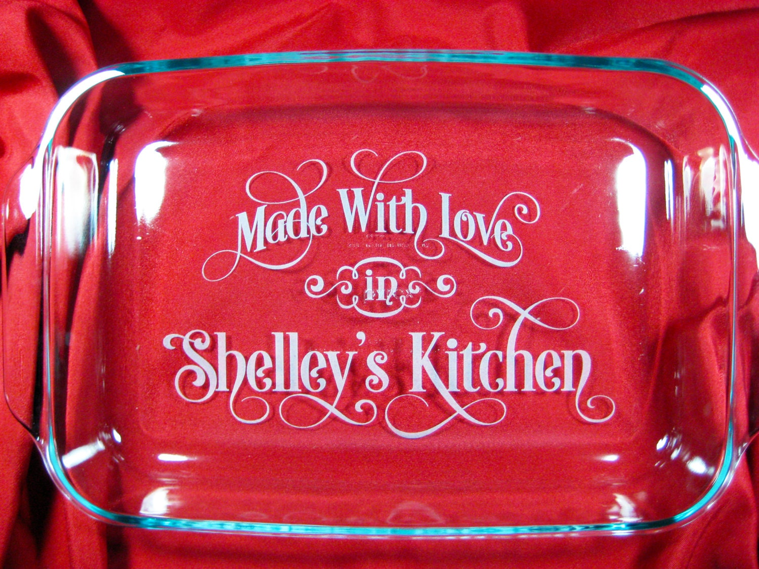 Personalized 9x13 Pyrex Baking Dish Made With