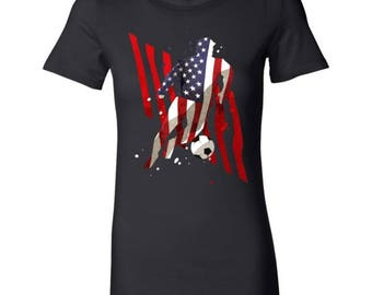 U.S.A Soccer American Football Sports Premium Bella Shirt