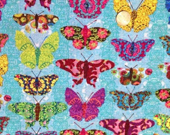 Calico BUTTERFLY Wings, by Tim Coffy ~ 100% Cotton Fat Quarter /FQ or Half Yard~ OOP/ Out of Print