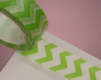 Mothers Day Sale 10 Yards of Colorful Chevron Pattern Washi Tape 5 Colors to Choose From