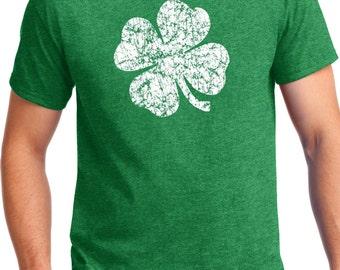 St Patrick's day Shirt, Four leaf clover t-shirt, Green shirt, Lucky shirt, Lady's Shirt, Screen Printed, Men's St. Patrick's day shirt