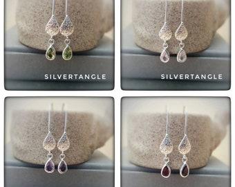 Filigree Sterling Silver and Gemstone Earrings