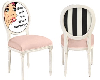 Pop art dining or side chairs inspired by art by Andy Warhol. 0c1d28be3f