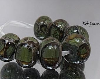 Wild Dragons, Lampwork Beads, SRA, UK