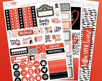 """Valentine's Day Stickers, Valentines Planner Stickers, Valentine's Day - """"Be Mine"""" - FK048"""