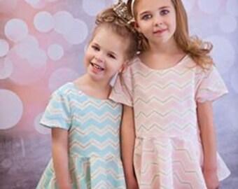 Maddie Peplum Top sewing PDF pattern girls, girls peplum, peplum pattern, pdf, pdf peplum pattern, sewing pattern peplum top