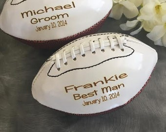 Groomsman Gift/Personalized Mini Football/Ring Bearer Gift/Best Man Gift/Gifts for Him/Father of the Bride/Father of the Groom/Mens Birthday