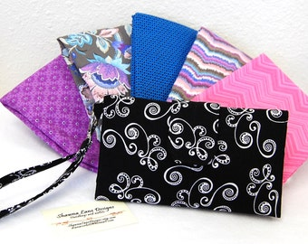 wallet for women, trifold wallet, custom made you choose fabric, small purse, checkbook, cell phone accessory, wristlet, credit card keeper