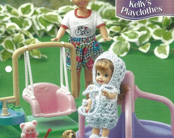 Annie's Fashion Doll Crochet Club - KELLY'S PLAYCLOTHES - Crochet Pattern for Kelly Doll - New Pattern for Barbie Series Dolls