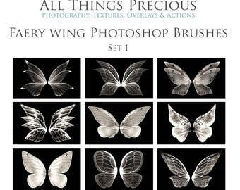 21 Fine Art Digital FAERY WINGS and SPARKLES Photoshop Brushes