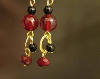 Earrings with natural Tourmaline gemstone