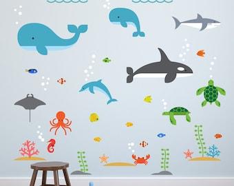 Fish Wall Decal, Fish Decal, Fish Wall Decals, Fish Decals