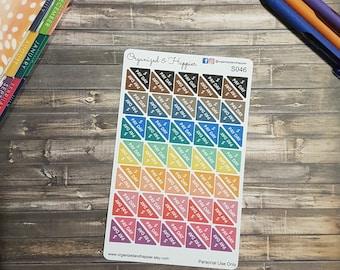 Pay Day Corner Stickers Multi Color  Erin Condren Happy Planner Sticker Sheet Matte Paper #S046