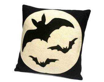 Bats Over the Moon - Full Moon Series 18 inch Pillow Cover