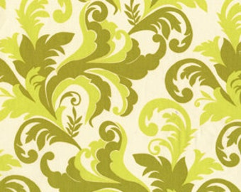 Clearance-Sandi Henderson for Michael Miller, Meadowsweet, Grand Foliage in Celery Green SH4240 - 1 Yard