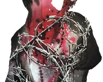 11x17 Negan Walking Dead Print