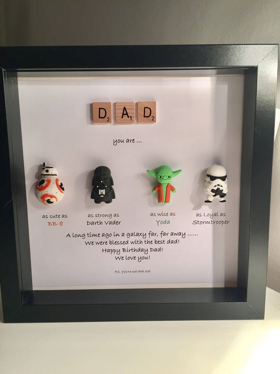 Star Wars Personalised Frame Daddy you are my Father